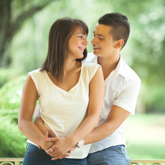 Lovely young couple embracing