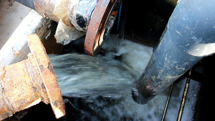 Waste water from industrial plant