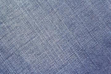 Jeanstextur; Makroaufnahme einer Jeanshose