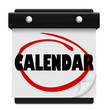 Calendar Word Schedule Planner Tear Pages Day Date