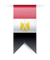 egypt flag banner illustration design