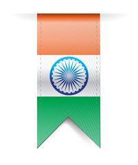 india flag banner illustration design