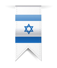 israel flag banner illustration design