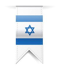 israel flag banner illustration design