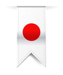 japan flag banner illustration design