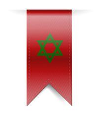 Morocco flag banner illustration design