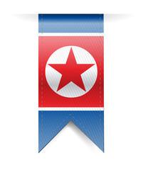 north korea flag banner illustration design