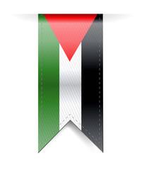 palestine flag banner illustration design