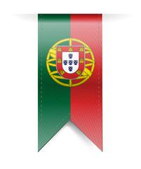 portugal flag banner illustration design