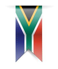 south africa flag banner illustration design