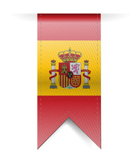 Spain flag banner illustration design