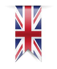 uk flag banner illustration design