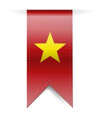 vietnam flag banner illustration design