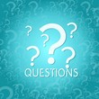 canvas print picture - question symbol background