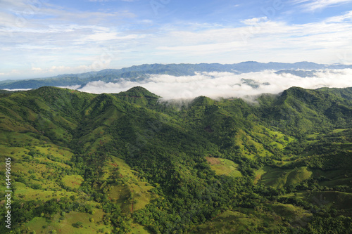 Foto op Plexiglas Centraal-Amerika Landen Aerial view of western Costa Rica