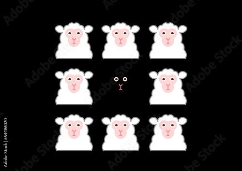 黒い羊と白い羊
