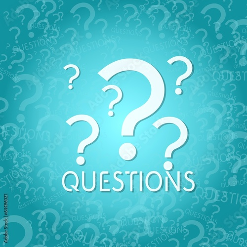 canvas print picture question symbol background