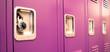 Student Lockers University School Campus Hallway Storage Locker