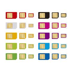 カラフルなSIMカード