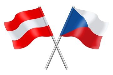 Flags : Austria and Czech Republic