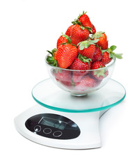Kitchen weight scale with strawberry