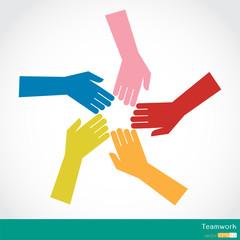 Teamwork, Colorful Hands