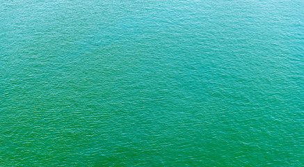 Clear blue sea background.