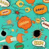Fototapety Template vintage comic speech bubbles/ design of soft a halftone