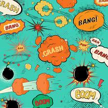 Modèle de discours dessinée vintage bulles / conception d'un demi-doux