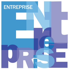 """""""ENTERPRISE"""" Letter Collage (business firm company corporate)"""