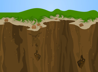 Cliff nature,Landscape vector background