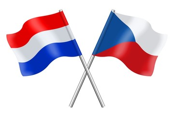 Flags : The Netherlands and Czech Republic