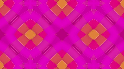 Magenta kaleidoscope background, loop HD
