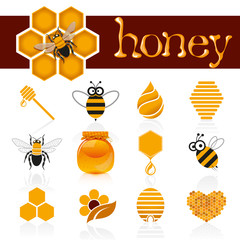 Honey icon set