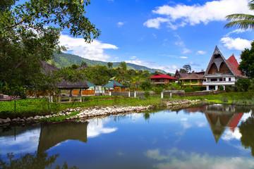 Batak Style Houses and Gazebo.