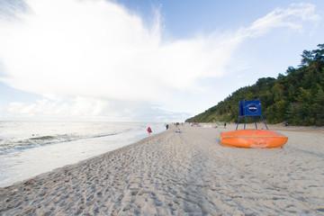 Nadmorska plaża, Jastrzębia góra, Morze Bałtyckie, Polska