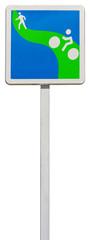 piste verte pour piétons et cyclistes