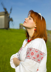 Portrait of the beautiful young Ukrainian
