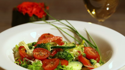 fresh vegetable salad spinning around 3