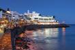 Leinwanddruck Bild - Playa Blanca, Lanzarote, Spain