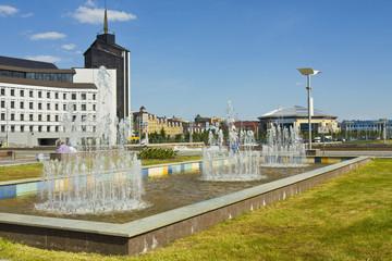 Kazan, fountains on Kamal square
