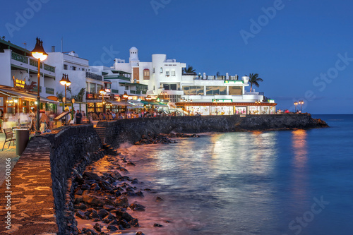 Leinwanddruck Bild Playa Blanca, Lanzarote, Spain