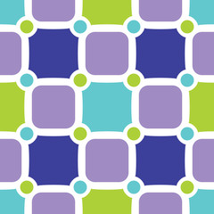 Fresh geometric seamless pattern