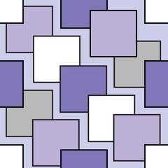 Purple geometric seamless pattern