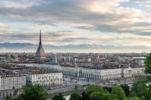 Turyn (Torino), panoramiczny o wysokiej rozdzielczości