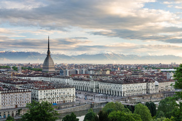 Turin (Torino), high definition panorama