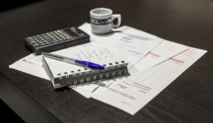 Calculation of the utility bills