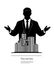 businessman represents city quarter