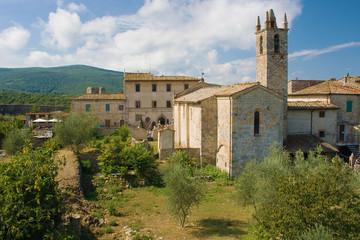 Medieval village of Monteriggioni in Tuscany, Italy