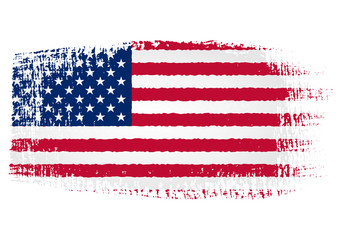 Brushstroke Flag United States with transparent background